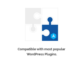 Compatible with most popular WordPress Plugins.