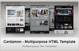 Cardamon HTML &#8211; Multiporpouse Site Templates