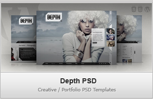 Depth PSD – Creative / Portfolio PSD Templates