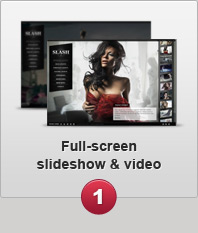 Full-screen slideshow & video