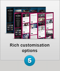 Rich customisation options