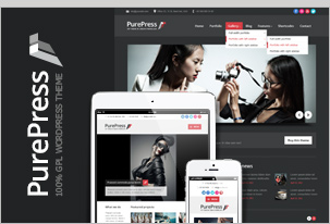 PurePress - responsive & retina-ready portfolio WordPress theme