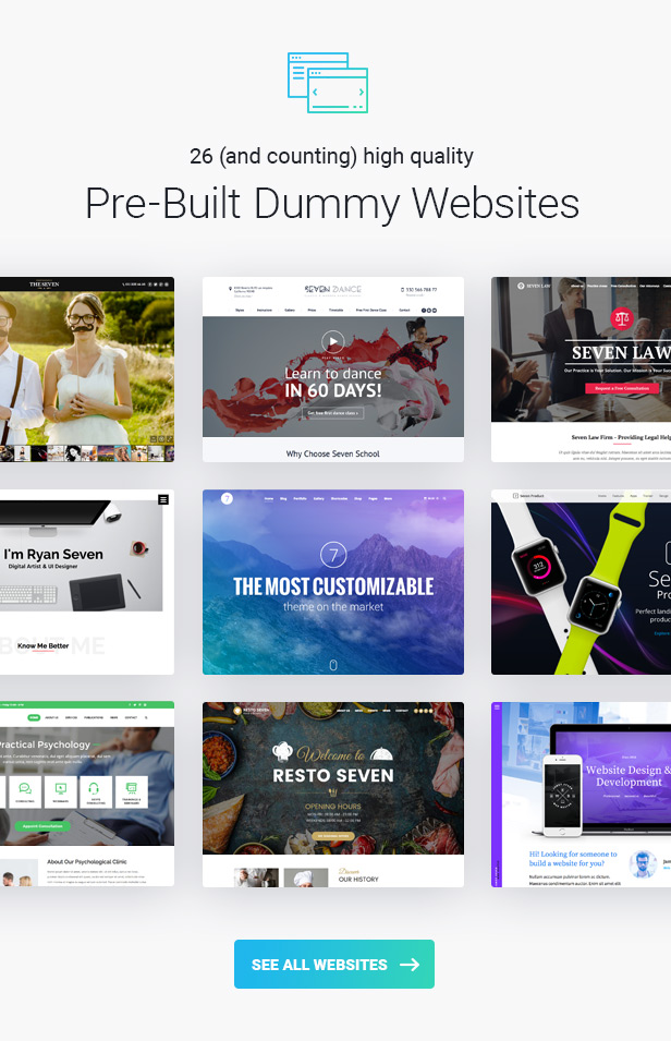 the7 demos 30.12.16 - The7 — Multi-Purpose Website Building Toolkit for WordPress
